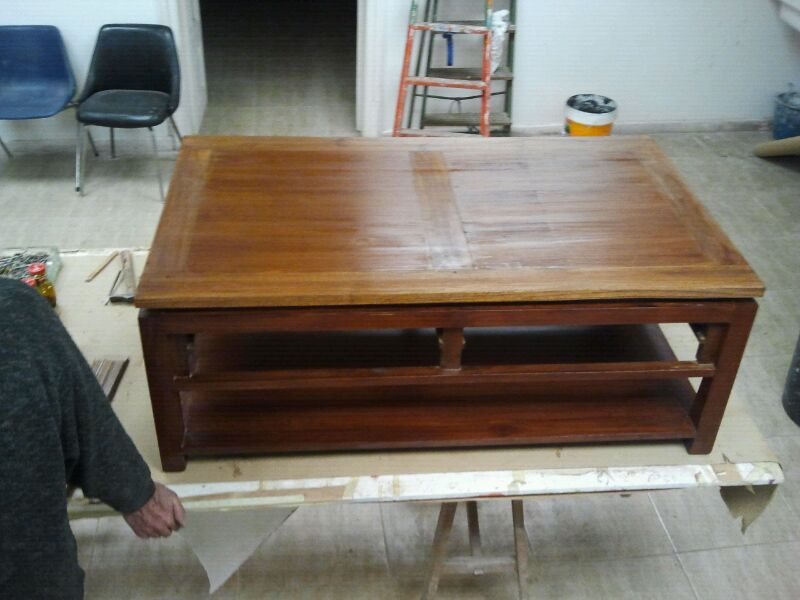 Restauraci n de una mesa - Curso restauracion muebles barcelona ...