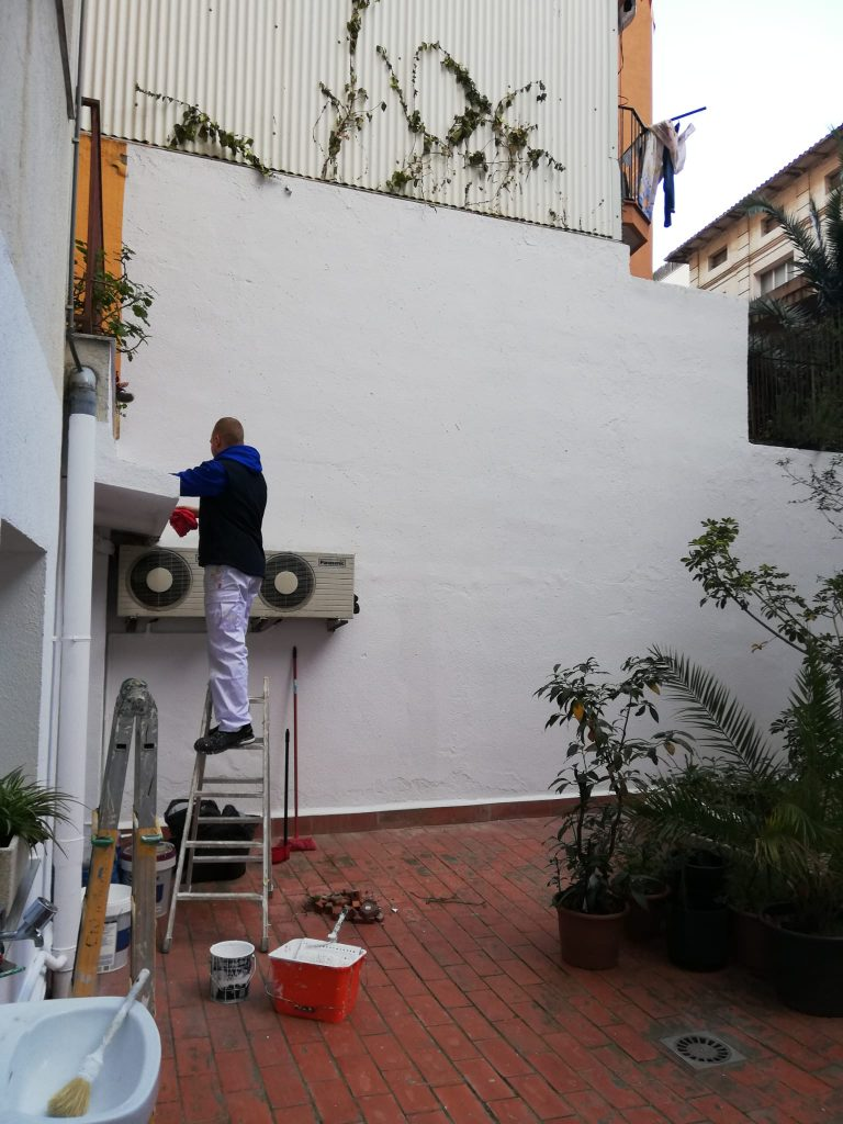 Reparación pared terraza
